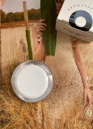 Okis brow white paste to fix - паста белая для фиксации эскиза бровей, 15 мл