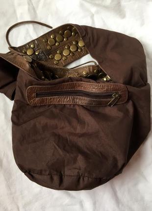Сумка коженая  мешок6 фото