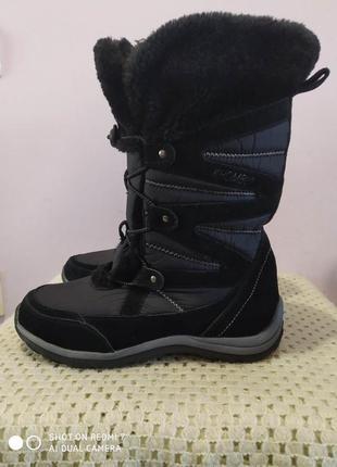 Замшевые зимние ботинки khombu очень хорошева качества