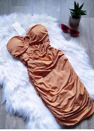Новое бежевое платье по фигуре с кольцами 🤩