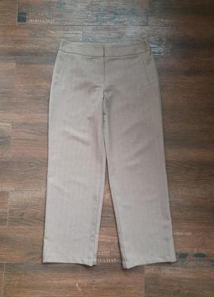 Классические женские брюки светло коричневого цвета / marks & spencer