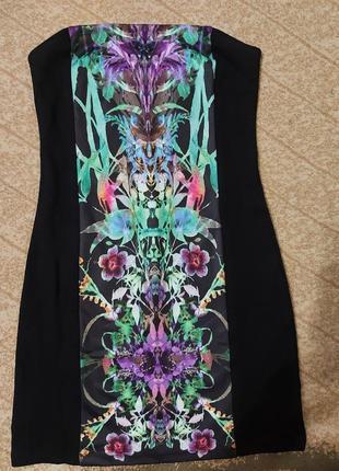 Нарядное платье с открытым верхом