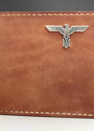 Кожаный кошелек с серебряным орлом