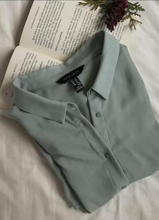 Однотонна шифонова сорочка,  подовжена