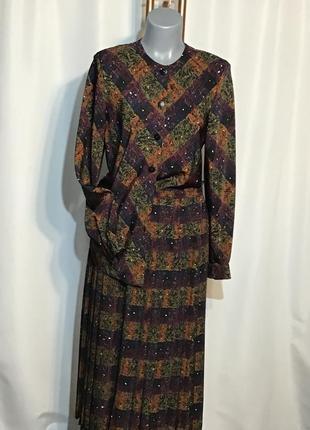 Винтаж, винтажный костюм, юбка, блуза