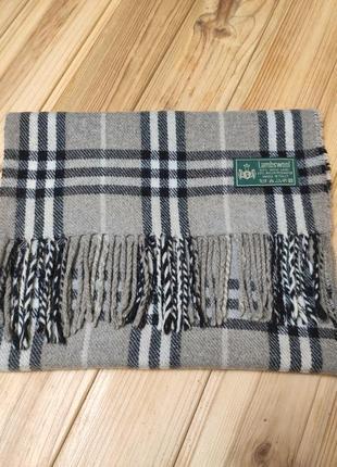 Эксклюзивный шерстяной итальянский шарф lambwool