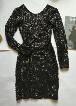 Платье блестящее в пайетки, р ххс