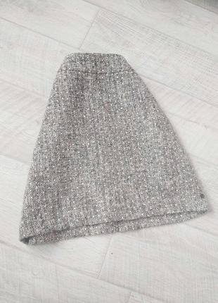 Серпя тёплая шерстяная юбка terre bleue