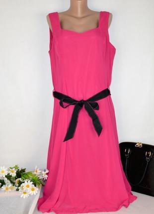 Шифоновое нарядное макси платье с поясом debenhams collection большой размер этикетка