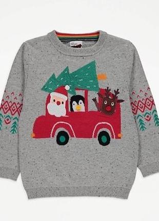 Новогодний свитеров george