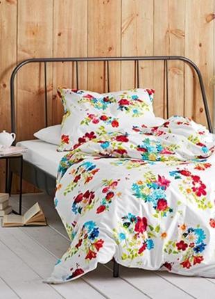 Цветочное постельное белье перкаль от tcm tchibo, германия! п-150*210, н-80*80 см