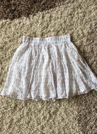Легкая летняя юбка zara