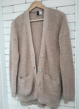 Кардиган вязанный беж капучино hm свитер модный 2020