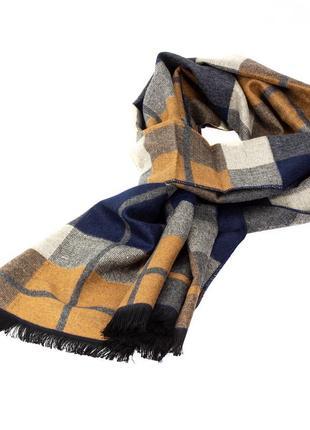 Мужской шарф в клетку luxwear ms1001 multicolor