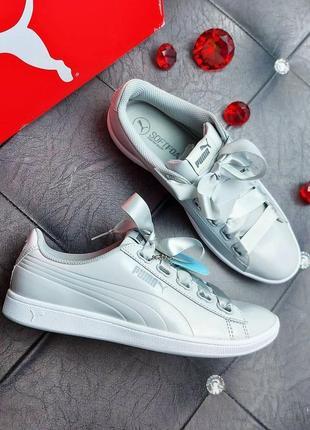 Puma оригинал серые кроссовки на лентах
