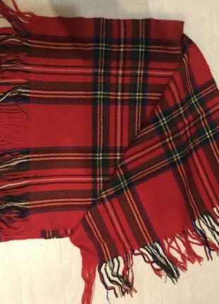 Шотландский шарф 100% шерсть