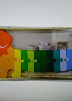 Большой деревянный пазл-головоломка такса playtive