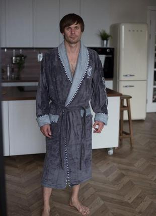 Качественный хлопковый халат премиум качества. натуральный махровый халат.турция 48-56