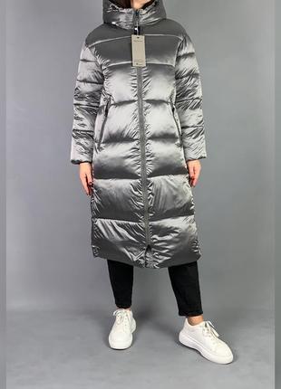 Пуховик одеяло длинная зимняя куртка с капюшоном.3 фото