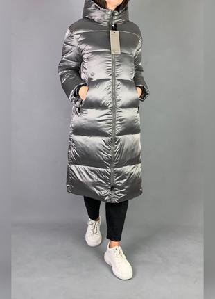Пуховик одеяло длинная зимняя куртка с капюшоном.1 фото