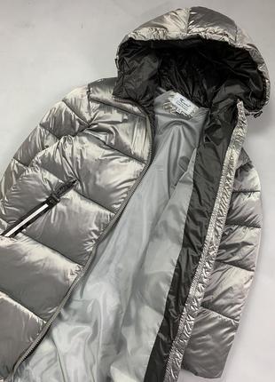 Пуховик одеяло длинная зимняя куртка с капюшоном.7 фото