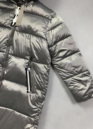 Пуховик одеяло длинная зимняя куртка с капюшоном.5 фото
