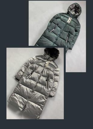 Пуховик одеяло длинная зимняя куртка с капюшоном.8 фото