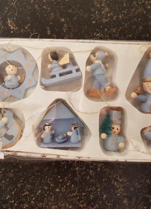 Набор деревянных ёлочных игрушек