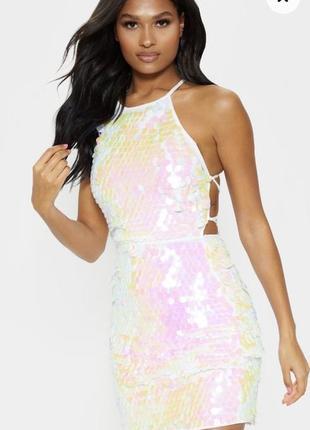 Стильное платье англ бренда с паетками от pretty little thing