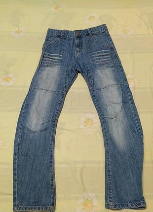 Синие  джинсы, длина 89, от 35, об 42