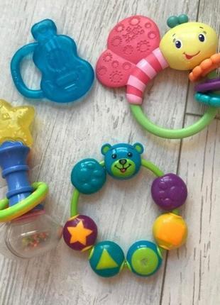 Погремушки, игрушки, грызунки для новорожденных, малышей bright stars