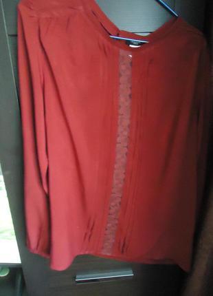 Блузка  тёмно красная