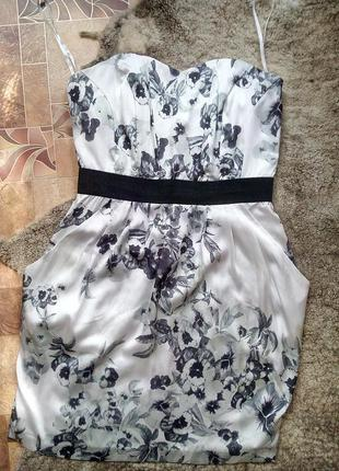Коктейльное миди платье h&m