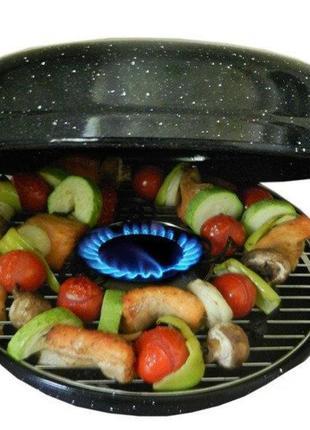 Сковорода гриль-газ benson антипригарное