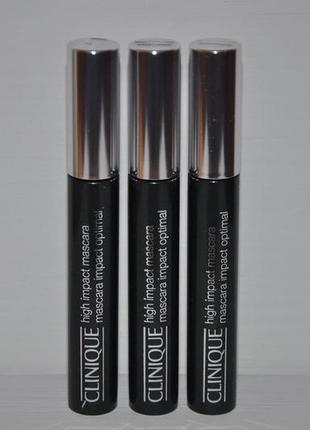Тушь clinique high impact mascara black полный формат оригинал чёрная