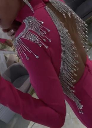 Платье бандажное с открытой спиной