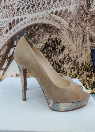 Vero cuoio туфли женские, 37 размер, натуральный замш
