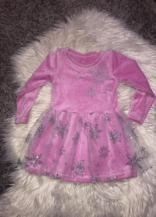 Новое платье снежинки на 2/3 года