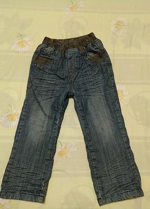 Сине серые теплые штаны, длина 61, от 25, об 36