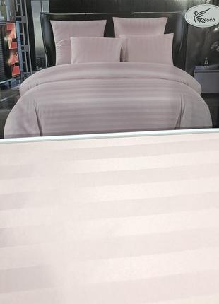 Постільна білизна страйп сатин євро розмір на ризинці, комплекты постельного белья