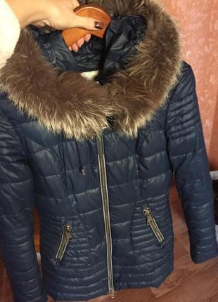 Пуховик стёганный , куртка зимняя