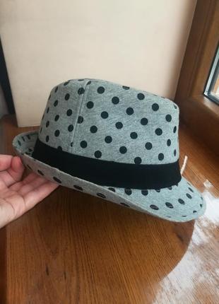 Шляпа в горошек, котон, р. 55-56 см