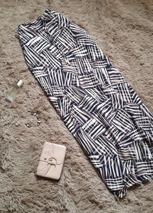 Длинная легкая летняя юбка макси