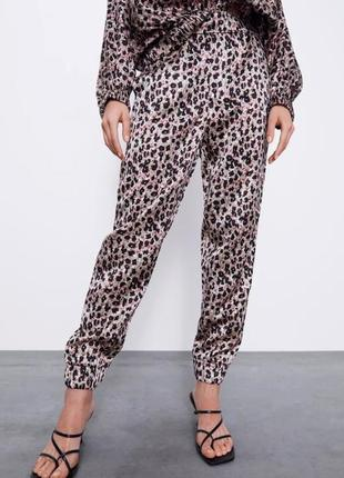 Zara новые брюки сатиновые шикарные размер xs s