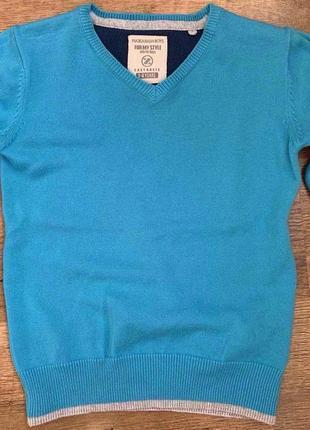 """Джемпер/свитер cotton100% """"plaza italia boys"""" 3-4г. италия2 фото"""