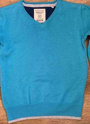"""Джемпер/свитер cotton100% """"plaza italia boys"""" 3-4г. италия7 фото"""