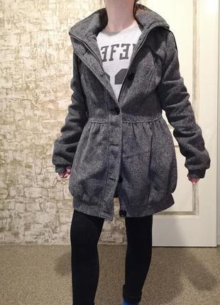 Куртка пальтовая полупальто пиджак драповый