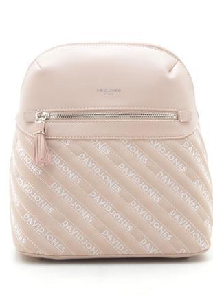 Рюкзак david jones 6009-1t pink пудровый розовый