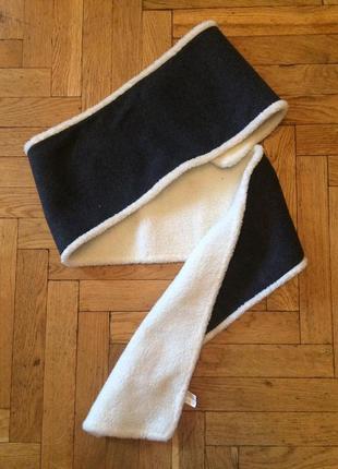 Очень теплый флисовый,двухсторонний шарф2 фото