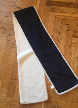 Очень теплый флисовый,двухсторонний шарф5 фото